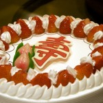 Birthday Cake with the Chinese Character for Longevity