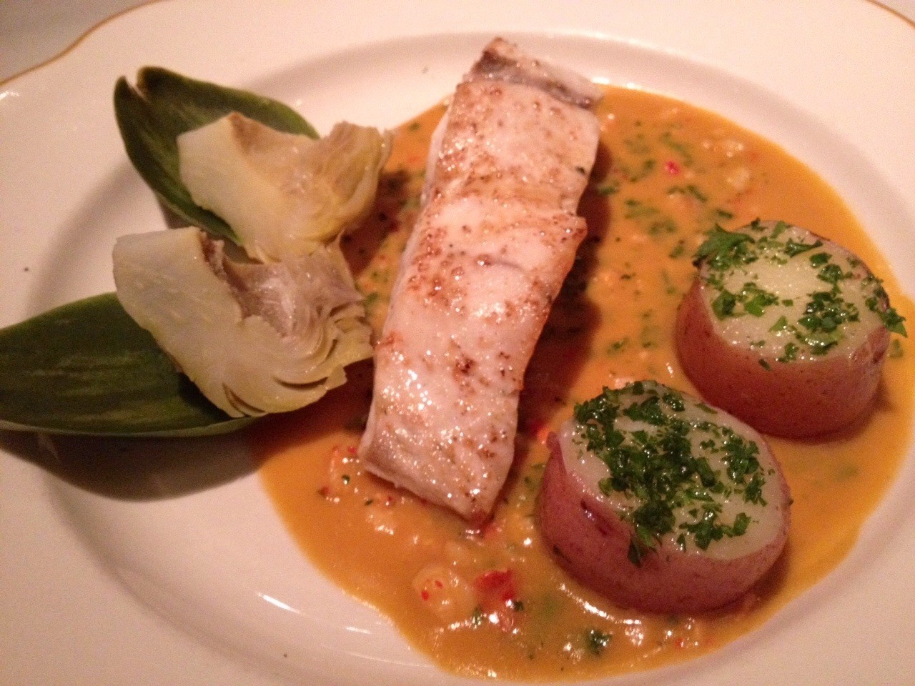 California wild salmon with lobster sauce