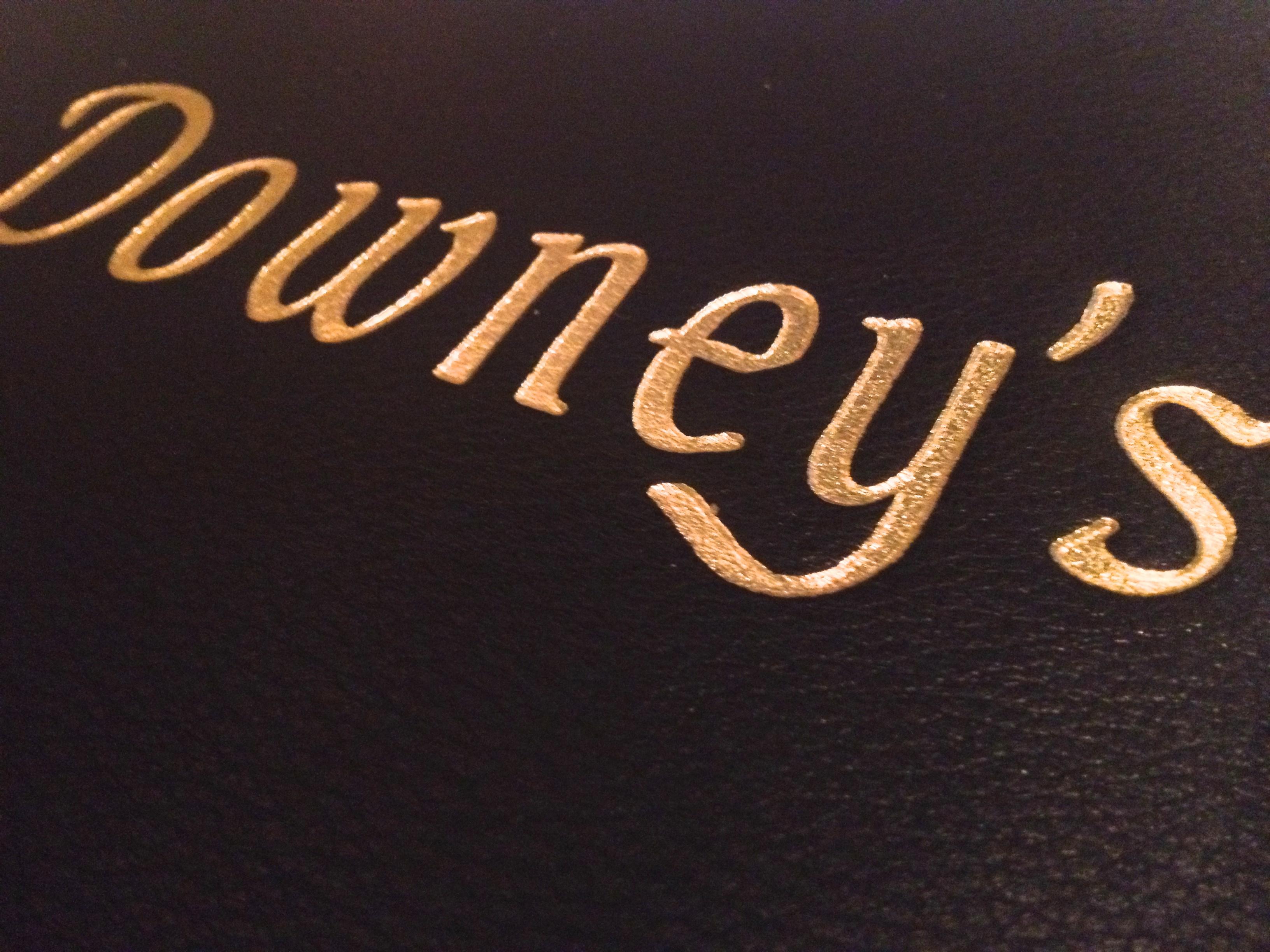 Downey's Menu